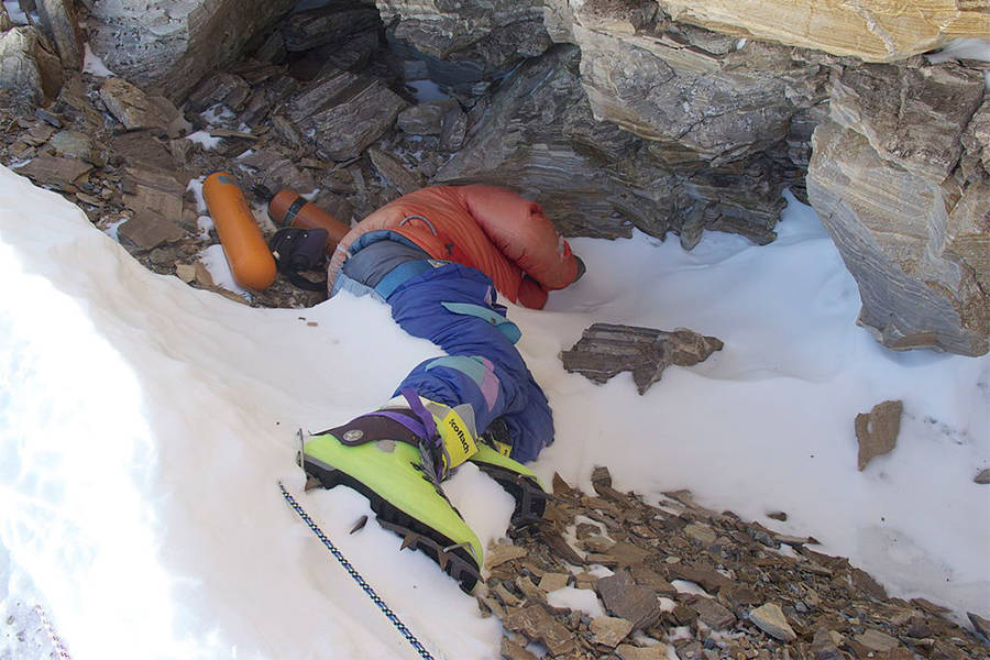 "Photo of ""Green Boots"", one of the most famous dead body of Mount Everest"